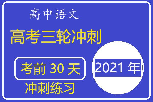 2021年高考语文三轮冲刺《考前30天冲刺》练习(含答案)(共20套打包)