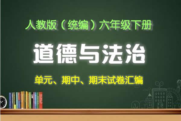人教版(部编)道德与法治六年级下册课课练、单元、期中、期末试卷汇编(共11套打包)