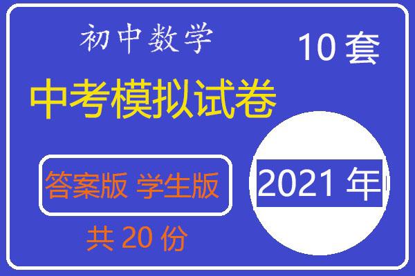 2021年中考数学模拟试卷+学生版(A3版含答案)(共20套打包)