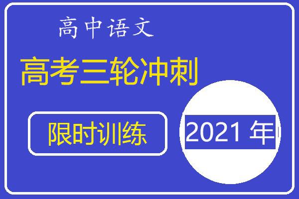 2021年高考语文三轮冲刺小题课时练习(含答案详解)(共27套打包)