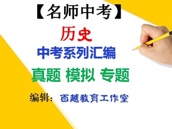 中考历史 系列汇编(含答案解析)