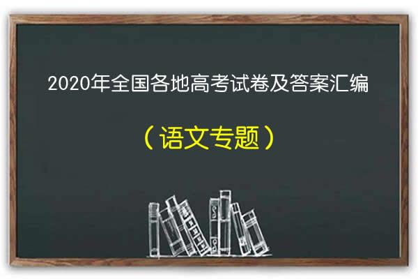 2020年全国各地高考语文试卷和答案汇编(word精校版)(共46套打包)