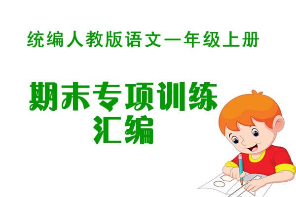 统编人教版语文一年级上册期末专项训练及答案汇编(共33套打包)