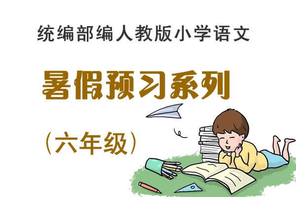 统编人教版小学语文暑假预习系列【六年级】(学习+检测素材)(共44套打包)