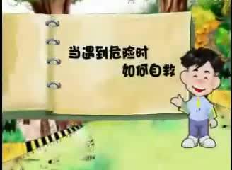 冀教版道德与法治二年级上册第11课《远离危险课:当孩子遇到危险如何自救》视频素材.wmv
