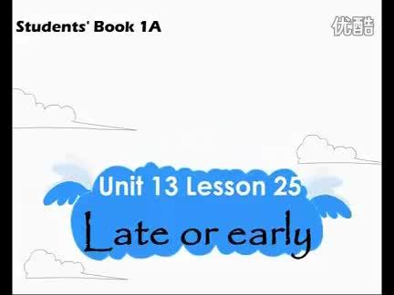 新概念英语青少版1A《Unit 13 Late or early》视频.flv