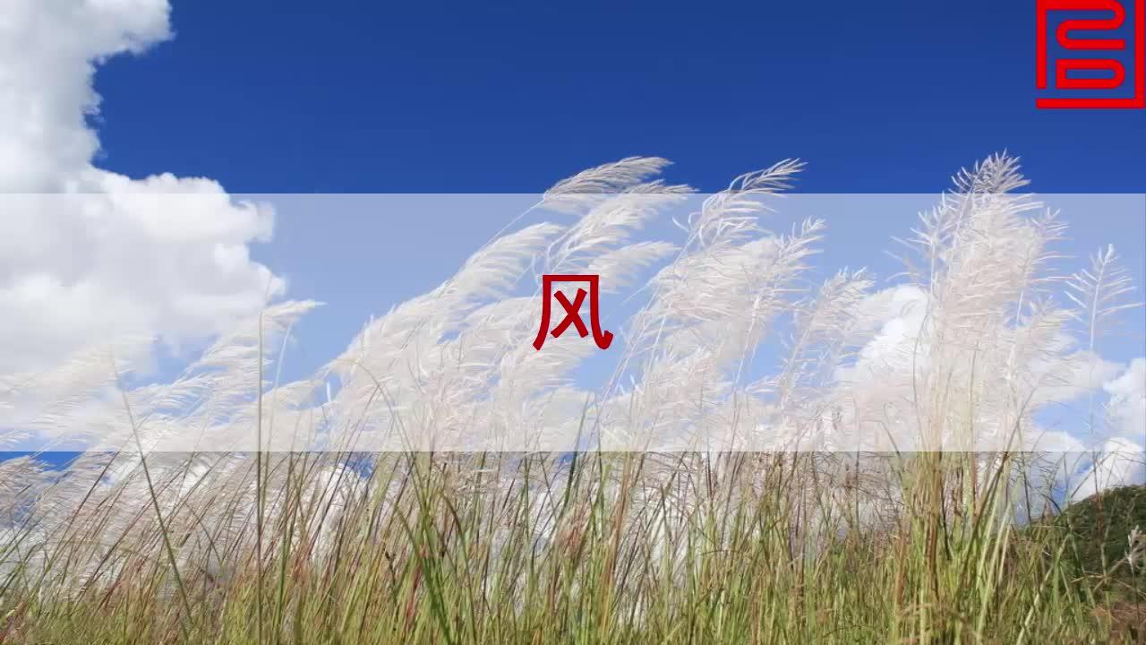 北师大版语文二年级上册第十三单元第1课《风》课文朗读.mp4