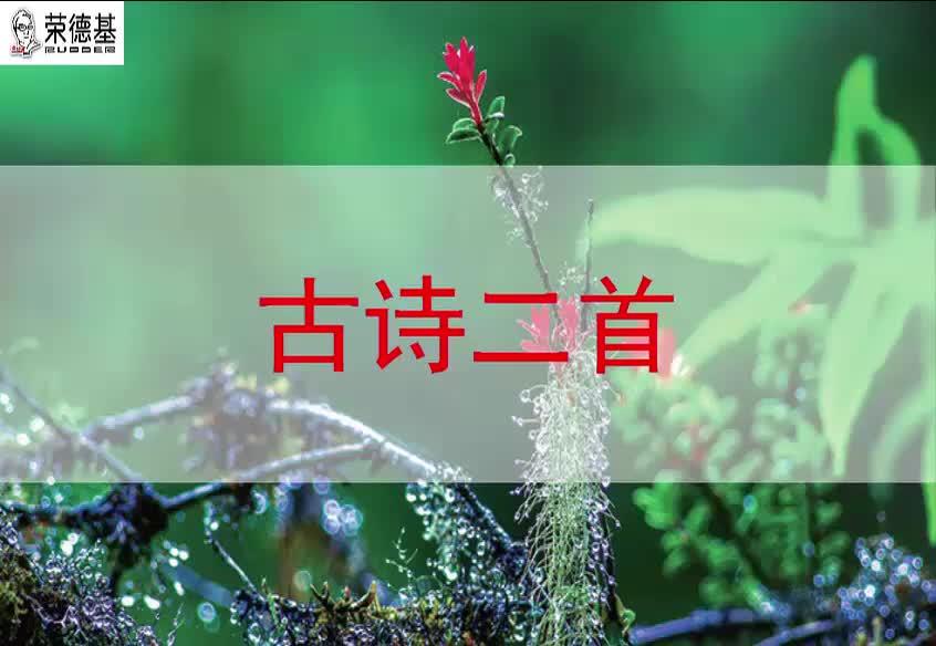2018春苏教版语文二年级下册第2单元第1课《古诗两首》(课文朗读).mp4